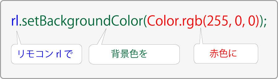 SeekBarの利用_setBackgroundColor(Color.rgb(255,-0,-0));