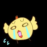 ゲーム用素材_トリ(泣く)