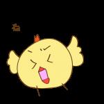 ゲーム用素材_トリ( 怒る1 )