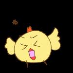 ゲーム用素材_トリ( 怒る2 )