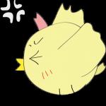ゲーム用素材_トリ( 横向き怒る )