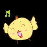 ゲーム用素材_トリ( 歌う )