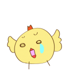 ゲーム用素材_トリ( 悲しむ2 )