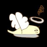 ゲーム用フリー素材_お化け天使_逃げイラスト横