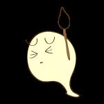 ゲーム用フリー素材_お化けデビル_ピンチイラスト