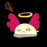ゲーム用フリー素材_お化け天使2_ダウンイラスト
