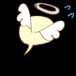 ゲーム用フリー素材_お化け天使_逃げイラスト