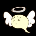 ゲーム用フリー素材_お化け天使_ピンチイラスト