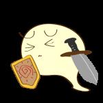 ゲーム用フリー素材_お化け剣士_ピンチイラスト
