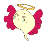 ゲーム用フリー素材_お化け天使2_ダメージイラスト