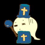 ゲーム用フリー素材_お化け僧侶_毒イラスト