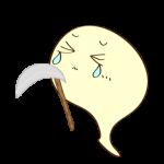 ゲーム用フリー素材_お化け死に神_ダメージイラスト