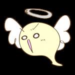 ゲーム用フリー素材_お化け天使_攻撃イラスト