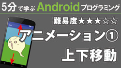 Android【アニメーション①】上下移動  250