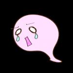 フリー素材 お化け(ピンク)泣き01