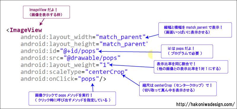 アンドロイドアプリの作り方【ミュージックアプリ】XML解説