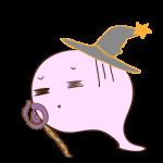 フリー素材 お化け(ピンク・超魔法使い)毒ダメージ
