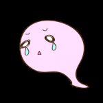 フリー素材 お化け(ピンク)泣き03