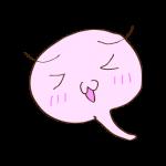 フリー素材 お化け(ピンク)照れ02