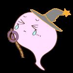 フリー素材 お化け(ピンク・超魔法使い)ダメージ