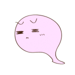 フリー素材 お化け(ピンク)哀れみ_01