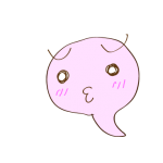 フリー素材 お化け(ピンク)照れ01