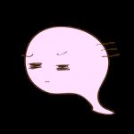 フリー素材 お化け(ピンク)哀れみ_03