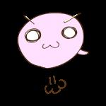 フリー素材-お化け(ピンク)ジャンプ01