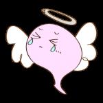 フリー素材 お化け(ピンク・天使)ダメージ