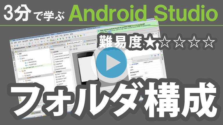 3分で学ぶ Android Studio【 フォルダ構成 】768