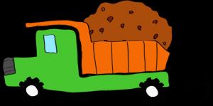 ダンプカー土積:緑 【 フリー素材工事車両 】