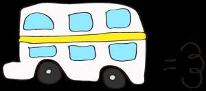 白:【乗り物フリー素材】 二階建てバス