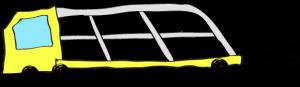 黄色:【フリー素材・ 大型車】カーキャリー