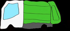 収集車 緑
