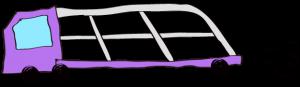 紫:【フリー素材・ 大型車】カーキャリー