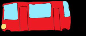 赤:【乗り物フリー素材】 バス