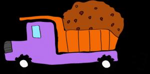 ダンプカー土積:紫 【 フリー素材工事車両 】