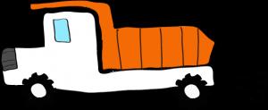 ダンプカー:白 【 フリー素材工事車両 】