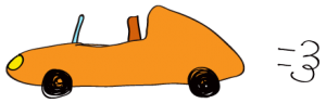 オレンジ:【素材・ 自動車】オープンカー