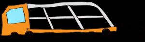 オレンジ:【フリー素材・ 大型車】カーキャリー