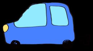 青:【フリー素材・ 自動車】ワゴン
