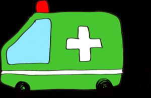 フリー素材 救急車 緑