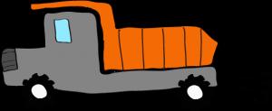 ダンプカー:グレー 【 フリー素材工事車両 】