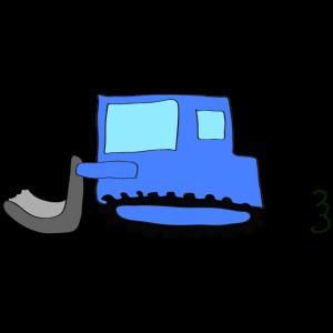 ブルドーザー:青