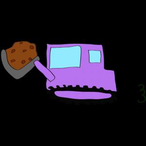 ブルドーザー(土):紫