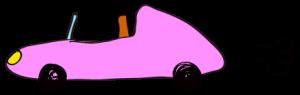 ピンク:【素材・ 自動車】オープンカー