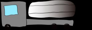 グレイ:タンクローリー【 フリー素材・働く車 】