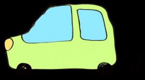 黄緑:【フリー素材・ 自動車】ワゴン