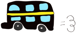 黒:【乗り物フリー素材】 二階建てバス