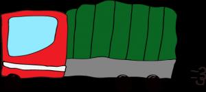トラック:赤 【 フリー素材  】